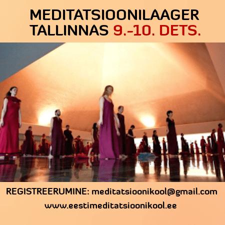 meditatsioonilaager Tallinnas dets 2017